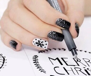 nails, christmas, and black image