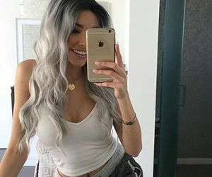 fashion, iphone, and white hair image