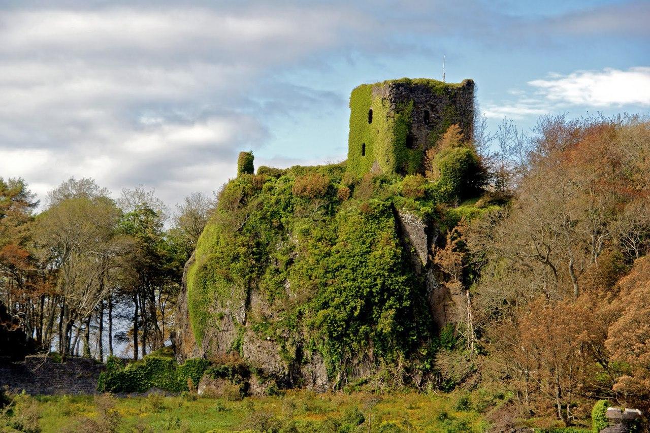 scotland, argyll, and ruined castle image