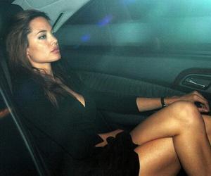 Angelina Jolie, style, and black image