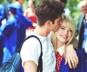emma stone, andrew garfield, and love image