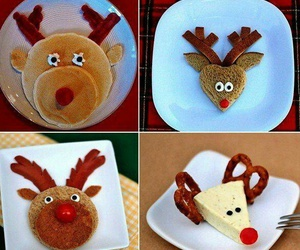 breakfast, christmas, and deer image