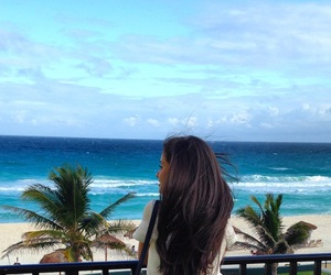 cancun, girl, and hair image