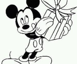 micky mouse mit geschenk image