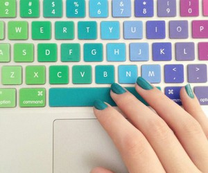 nails, keyboard, and colors image