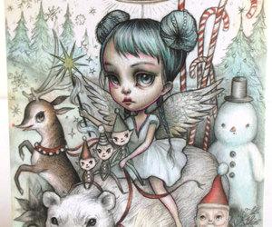 angel, big eyed, and etsy image