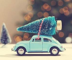 christmas and volkswagen image