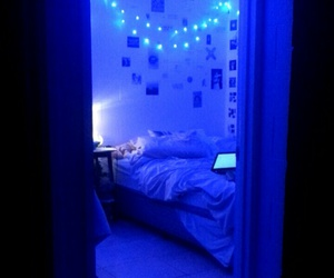 bedroom, bedrooms, and blue image