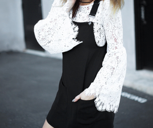 fashion blogger, street style, and white lace image