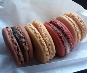 delicious, food, and macarons image