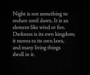 night, Darkness, and quotes image