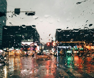 city, rain, and indie image
