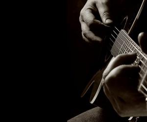 guitar, romantic, and black image