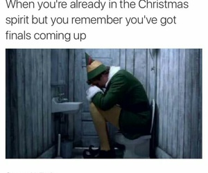christmas, finals, and school image