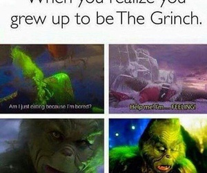funny, christmas, and grinch image