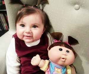 baby, cute, and doll image