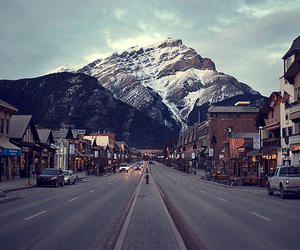 mountains, city, and photography image