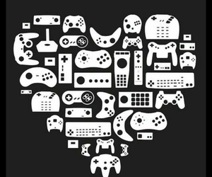 game, heart, and geek image