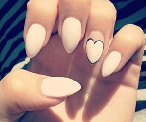heart, nails, and pointed image