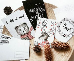 christmas, winter, and postcard image