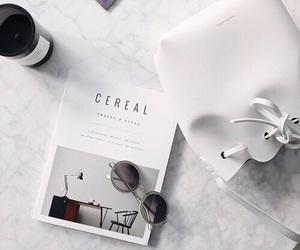 white, bag, and glasses image