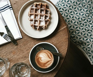 coffee and waffles image