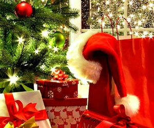 christmas, holiday, and santa image