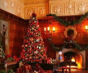 beautiful, christmas, and chimney image