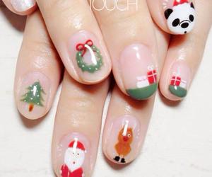christmas, nail, and nail art image