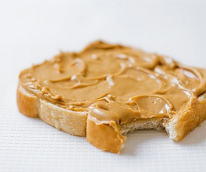 food, peanut butter, and breakfast image