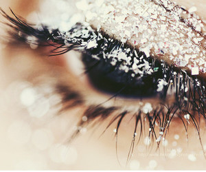 eye, snow, and eyes image