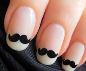 moustache, cutepolish, and cavate image