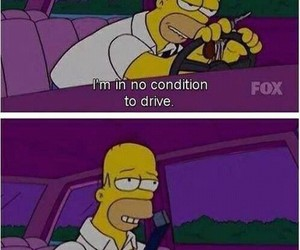 funny, drunk, and homer image