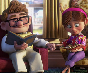 up, carl and ellie, and disney image