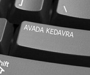 harry potter, avada kedavra, and keyboard image
