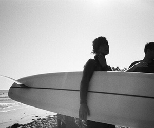 black and white, indie, and surf image