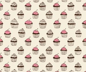 background, cupcake, and illustration image