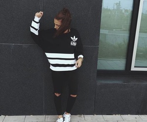 adidas, girl, and superstar image