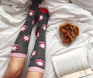 book, christmas, and socks image