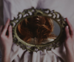 mirror, vintage, and pale image