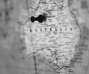 australia, travel, and map image