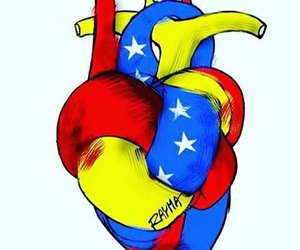 venezuela and heart image