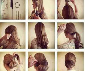 hair updo, hairstyles tutorial, and updo tutorial image