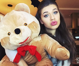 crazy, happy, and teddy bear image