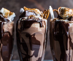 food, chocolate, and milkshake image