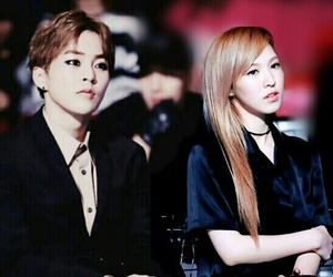couple, wendy, and xiumin image