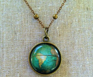 world, travel, and necklace image