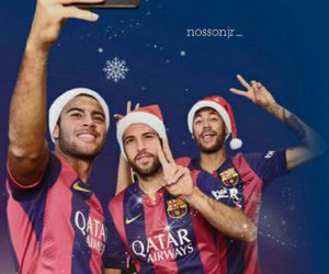 neymar, rafinha, and christmas image
