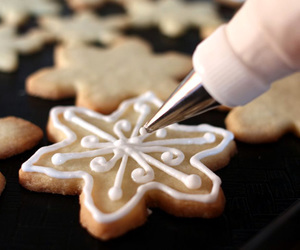 christmas, food, and cookie image