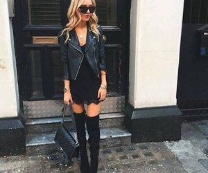 bag, blonde hair, and shoes image